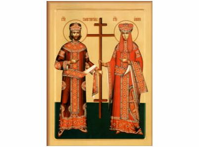 Резултат слика за sveti car konstantin i carica jelena